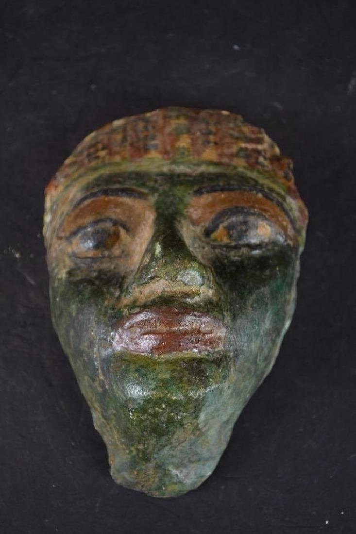 Small Ancient Egyptian Polychrome Mask