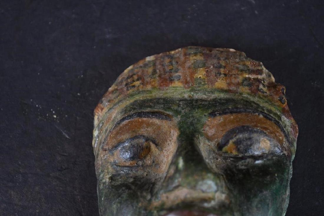 Small Ancient Egyptian Polychrome Mask - 3