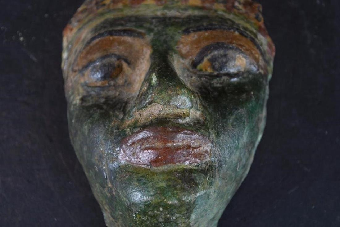 Small Ancient Egyptian Polychrome Mask - 4