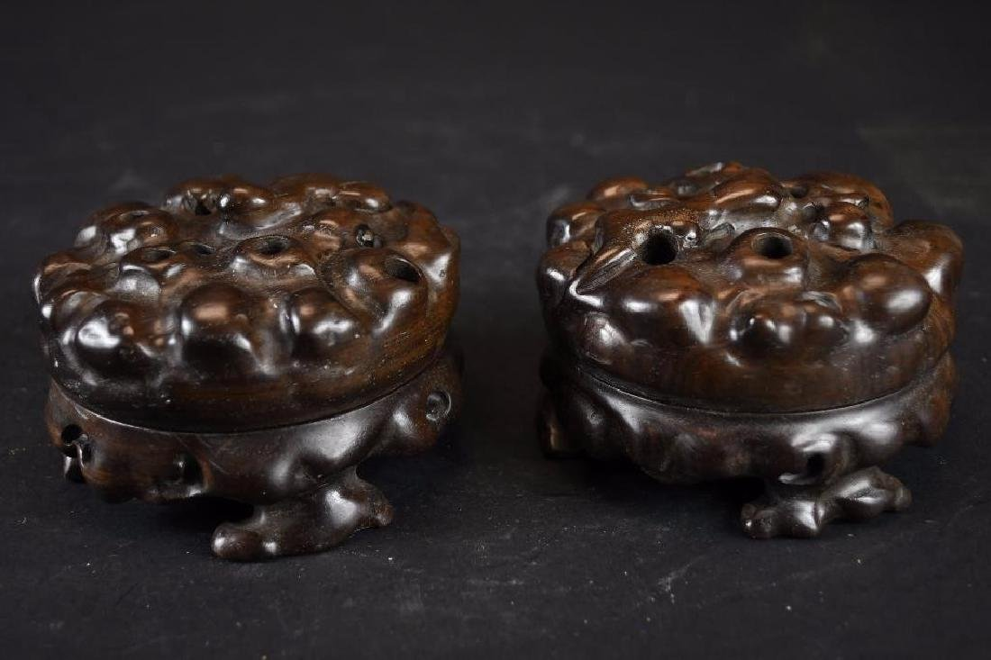 Two Chinese Carved Hardwood Boxes