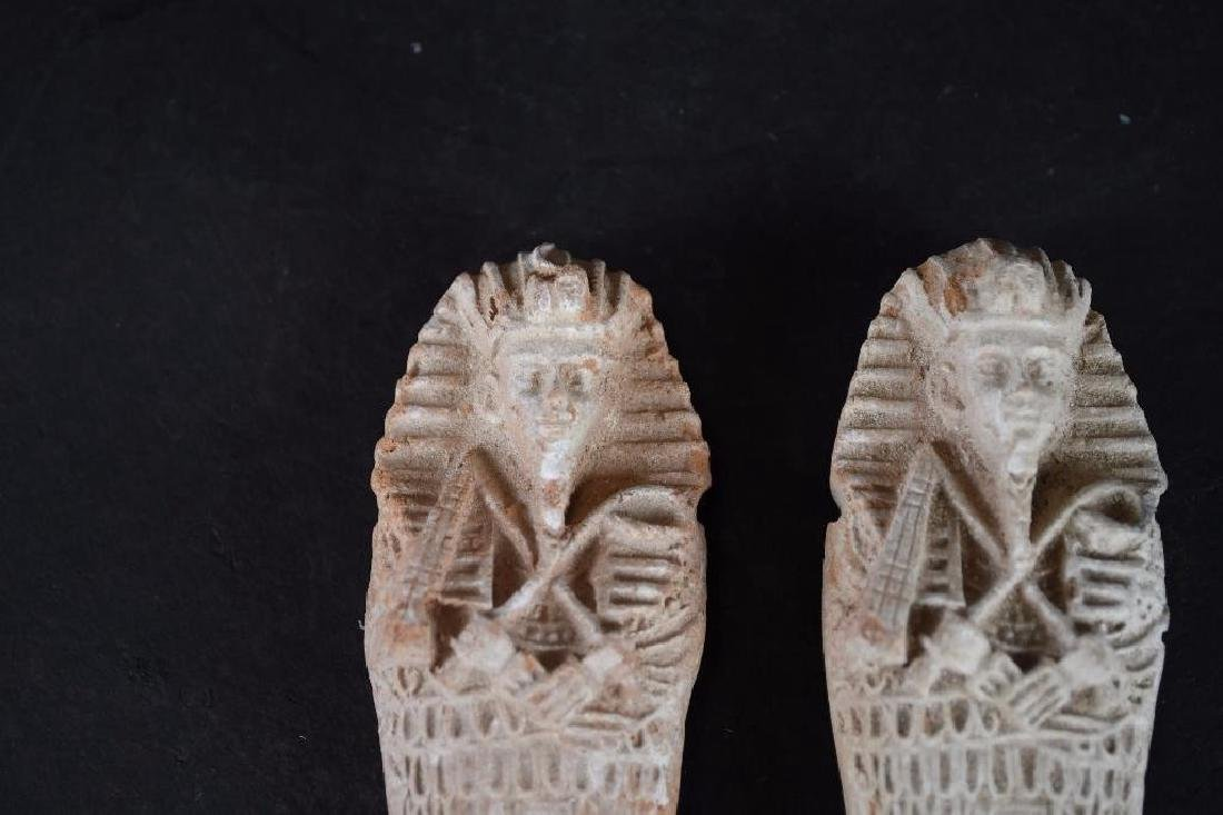 Two Small Ancient Egyptian Faience Statue - 2