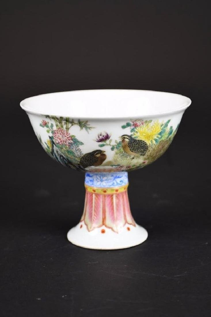 Antique Chinese Hand Painted Famille Rose Porcelain