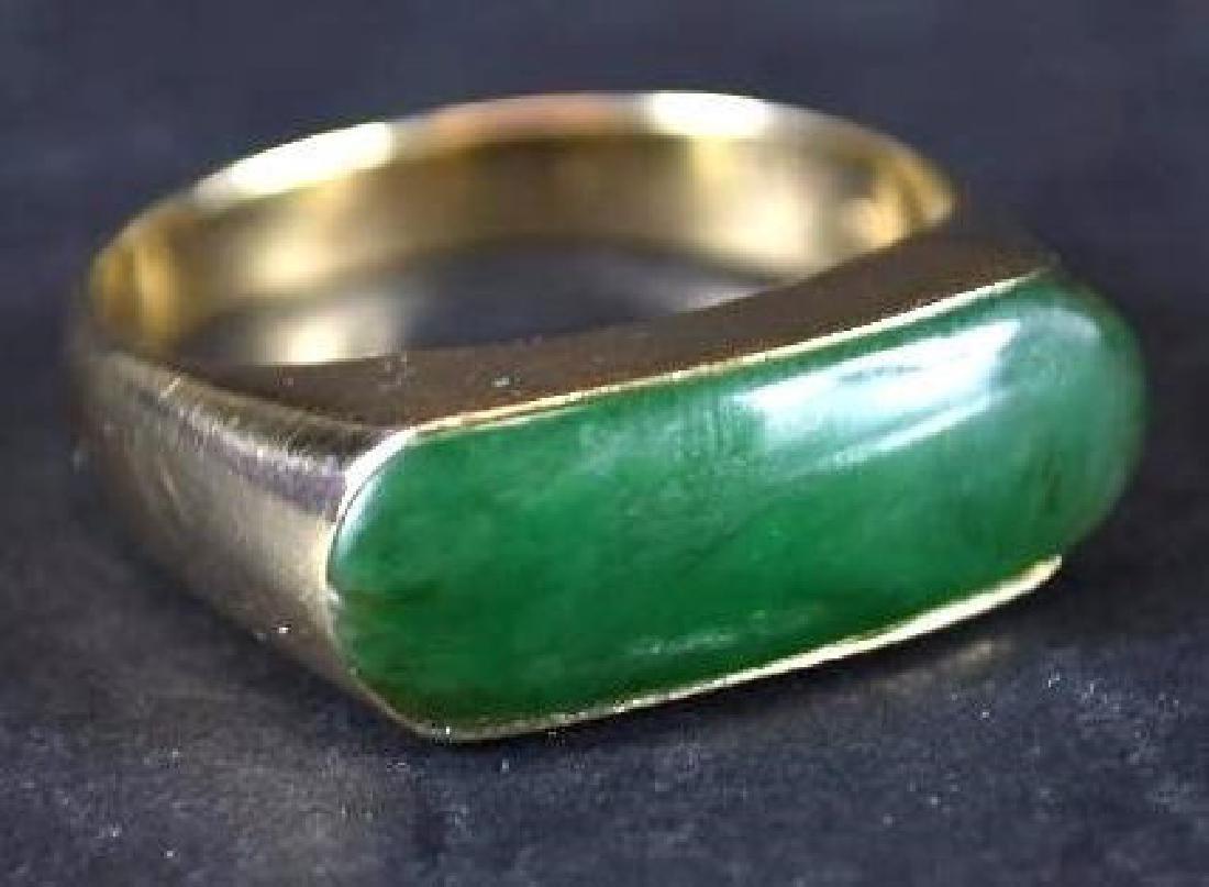 Chinese Jade & Gold Men's Ring