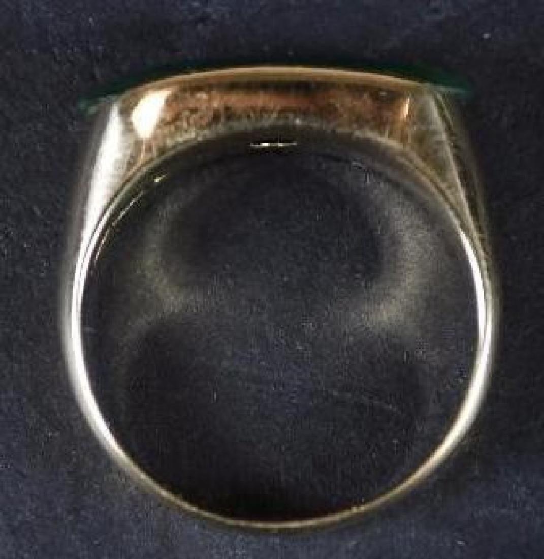 Chinese Jade & Gold Men's Ring - 2