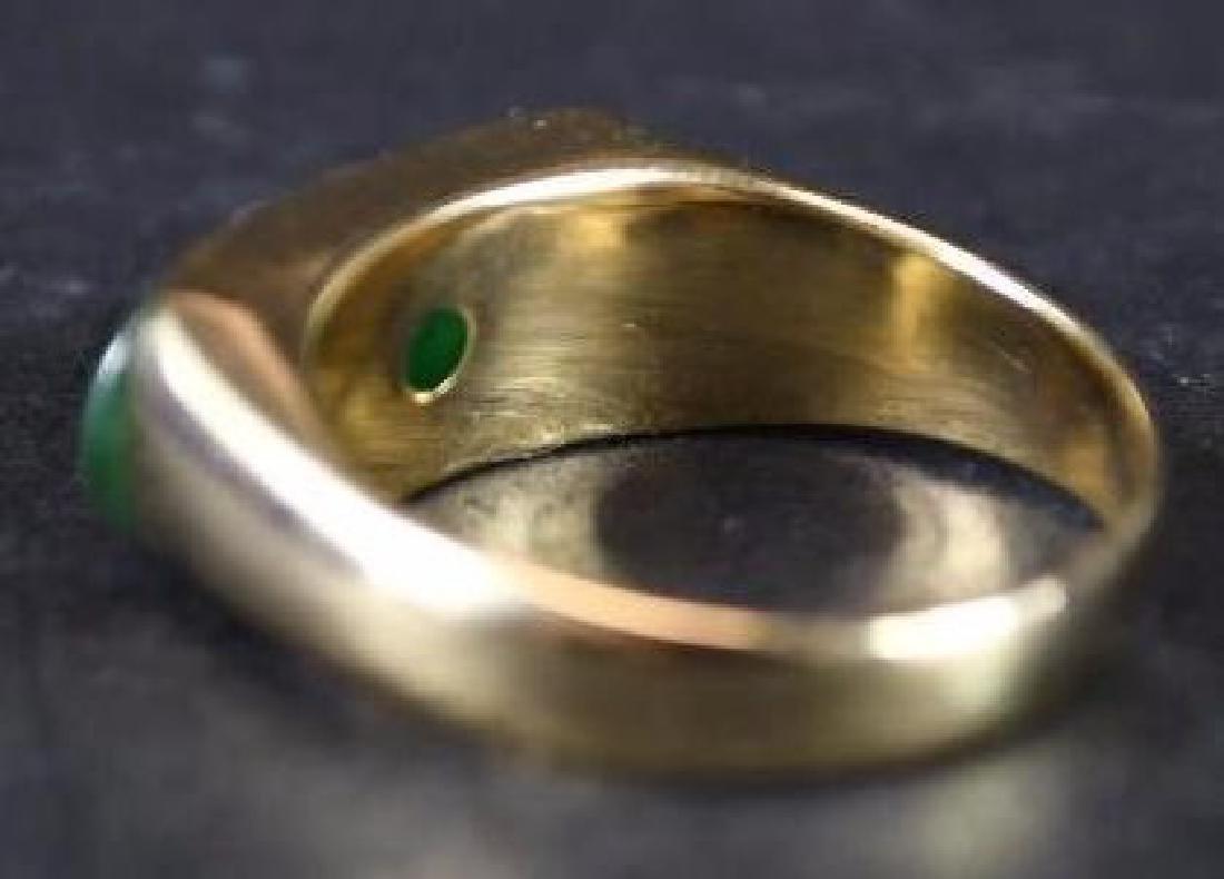 Chinese Jade & Gold Men's Ring - 3