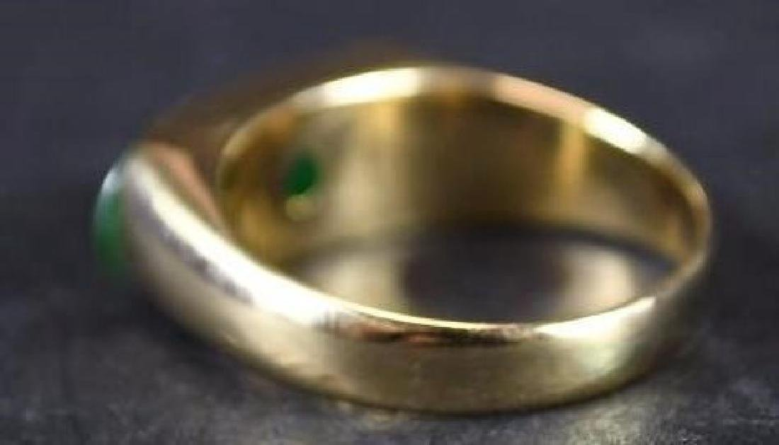 Chinese Jade & Gold Men's Ring - 4