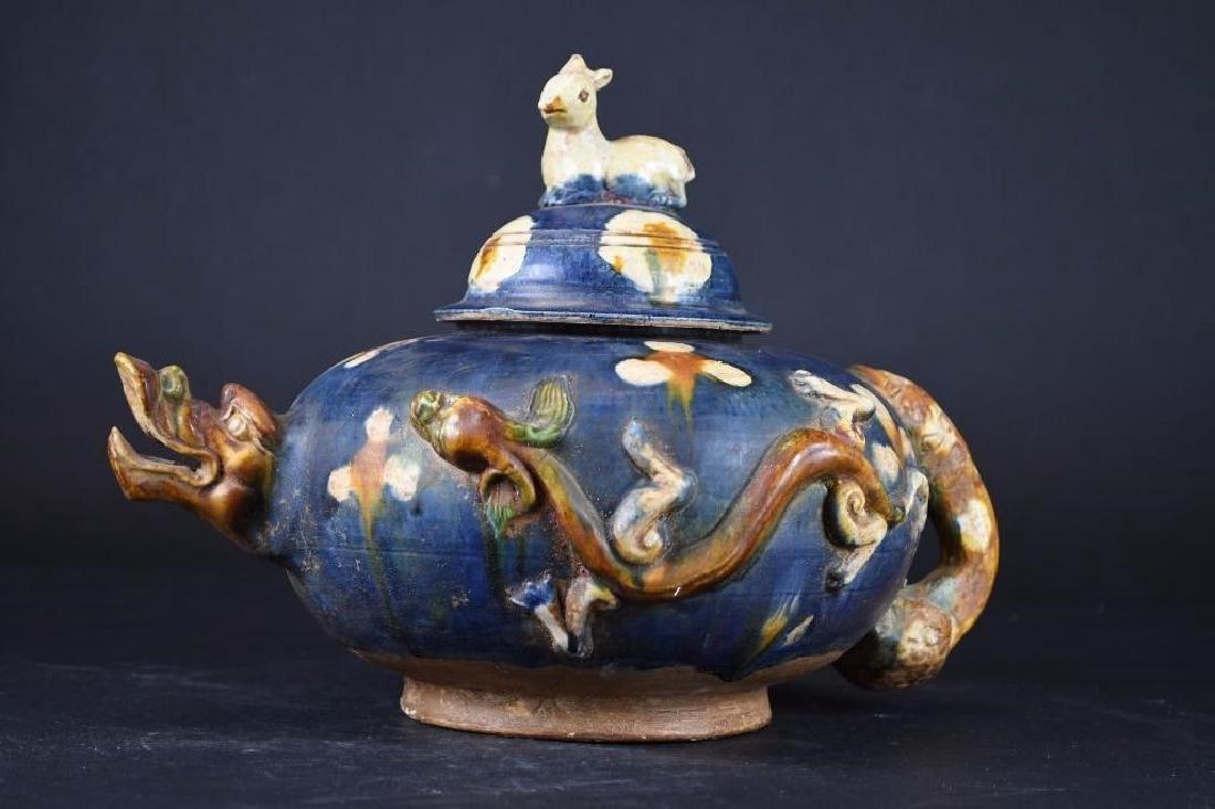 Chinese Sancai Glaze Tea Pot