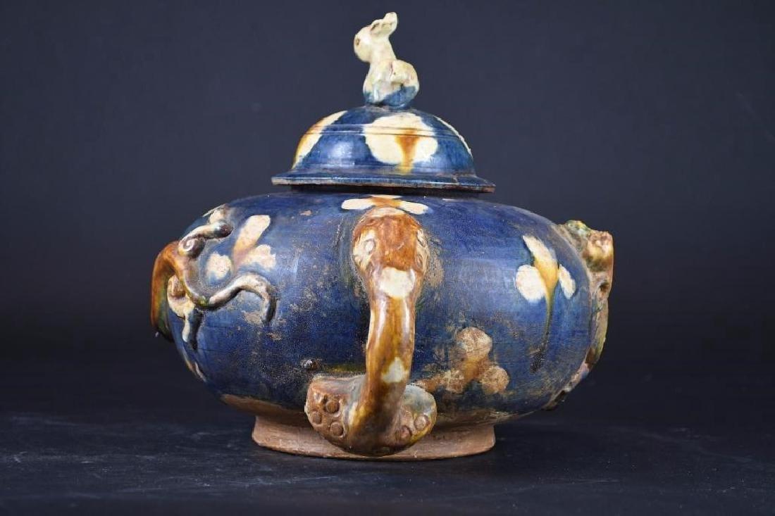 Chinese Sancai Glaze Tea Pot - 2
