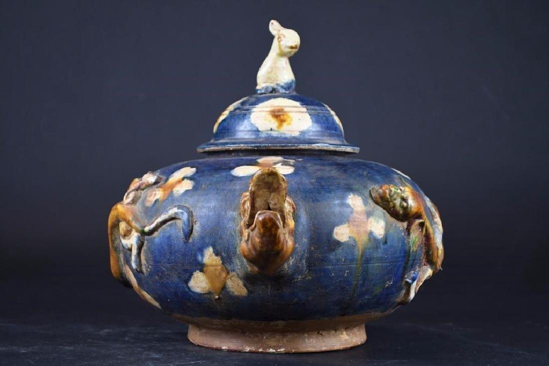 Chinese Sancai Glaze Tea Pot - 4