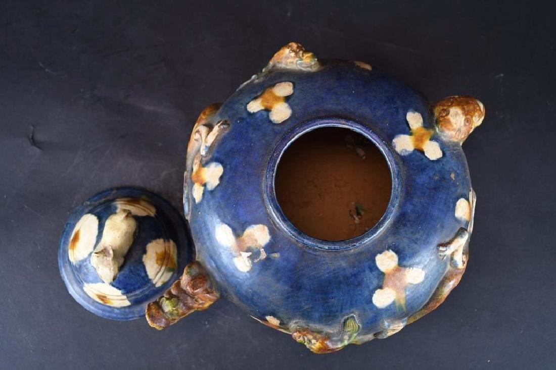Chinese Sancai Glaze Tea Pot - 5