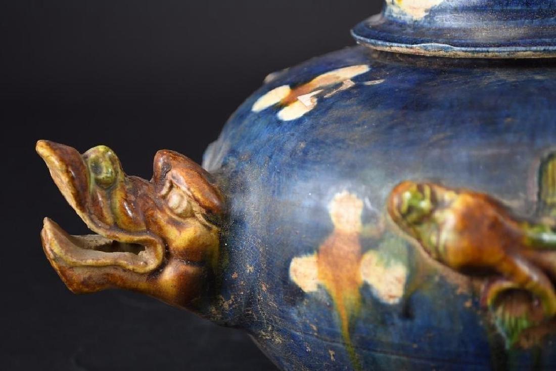 Chinese Sancai Glaze Tea Pot - 8
