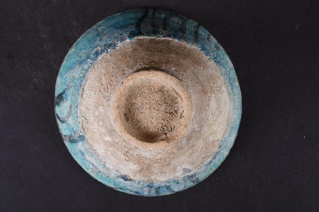 Ancient Kashan Turqoise & Black Pottery Bowl - 7
