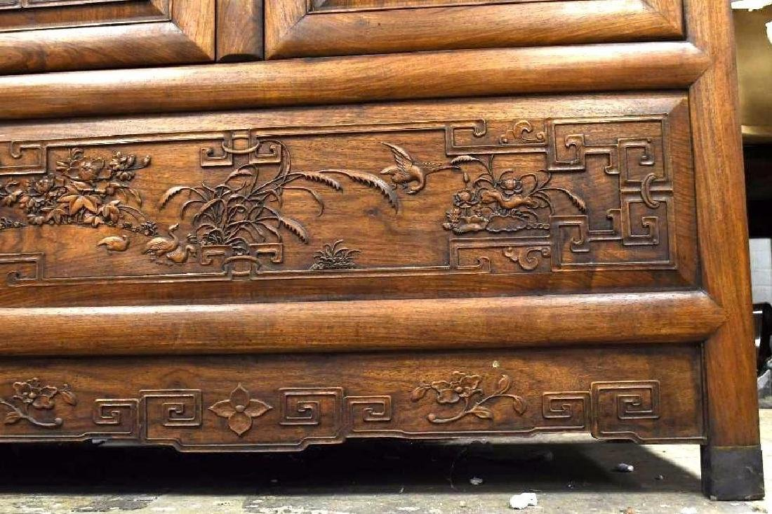 Pair of Chinese Hardwood Dragon Cabinets - 6