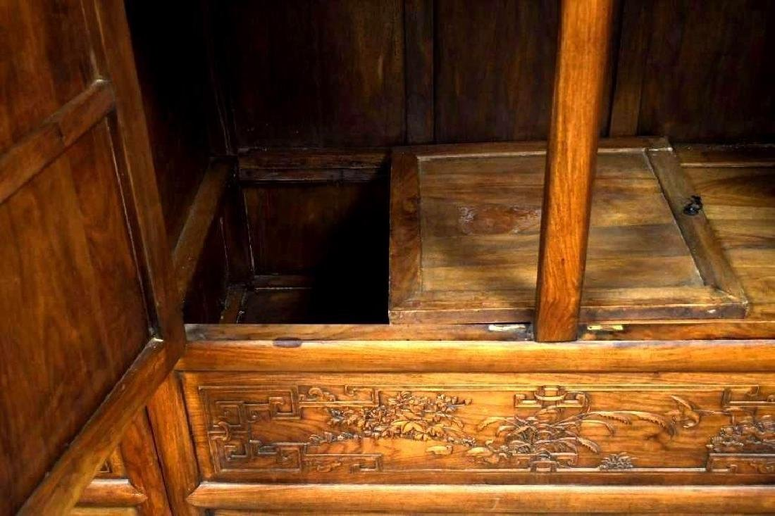 Pair of Chinese Hardwood Dragon Cabinets - 8