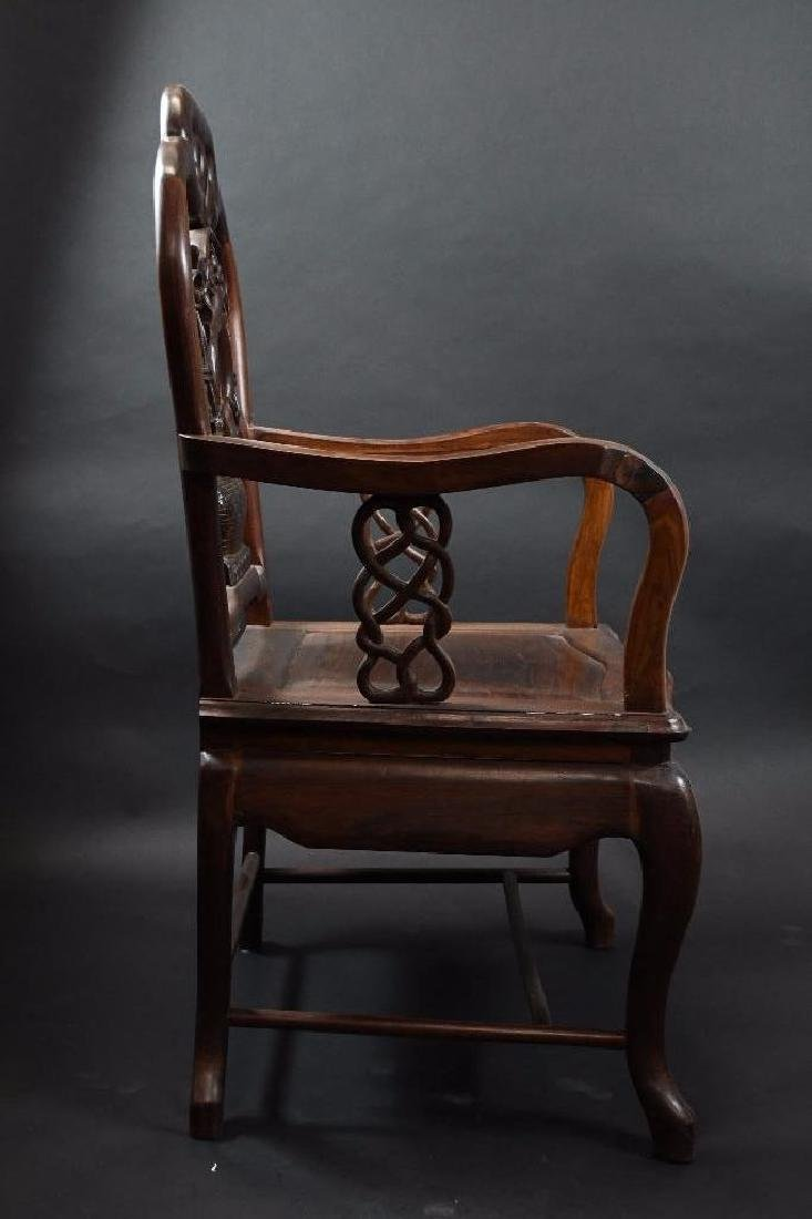 Two Chinese Hardwood Chairs - 3