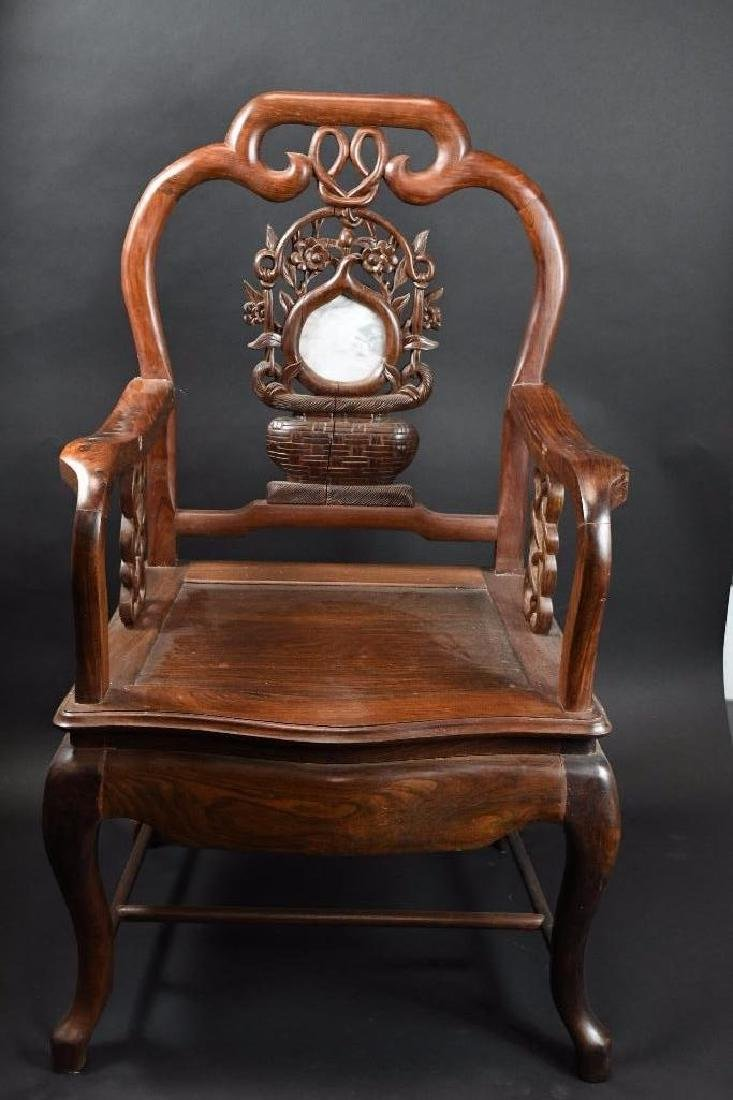 Two Chinese Hardwood Chairs - 6