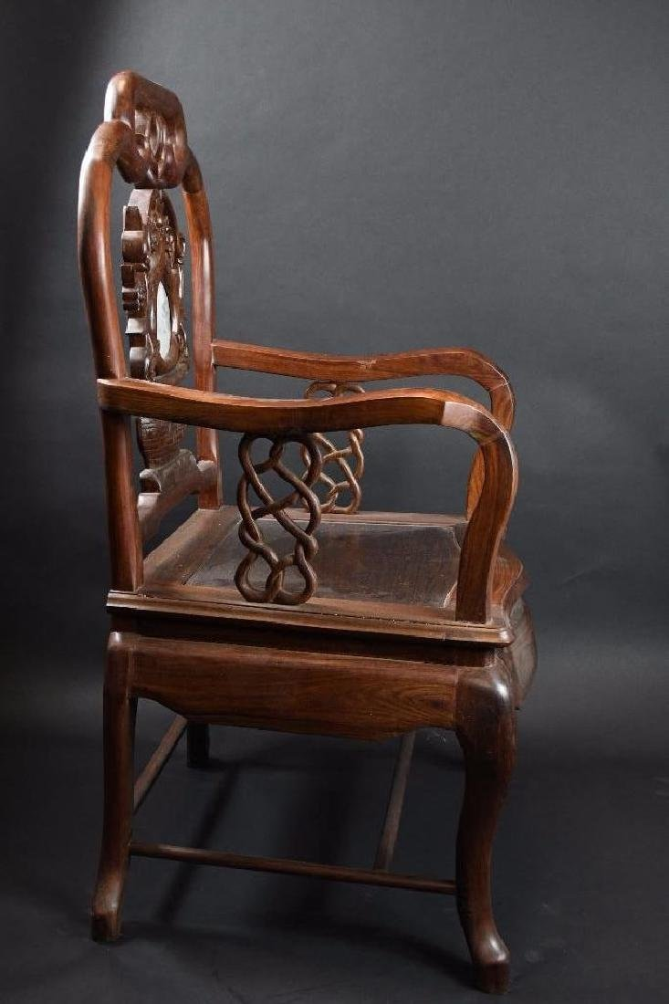 Two Chinese Hardwood Chairs - 7