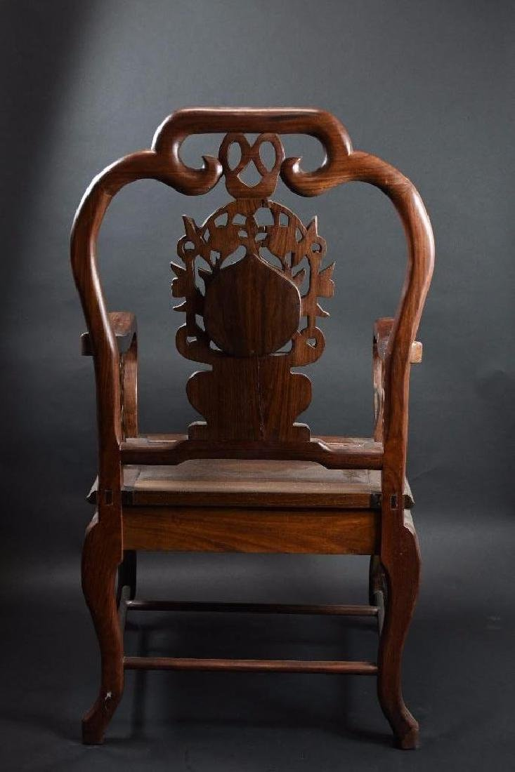 Two Chinese Hardwood Chairs - 8