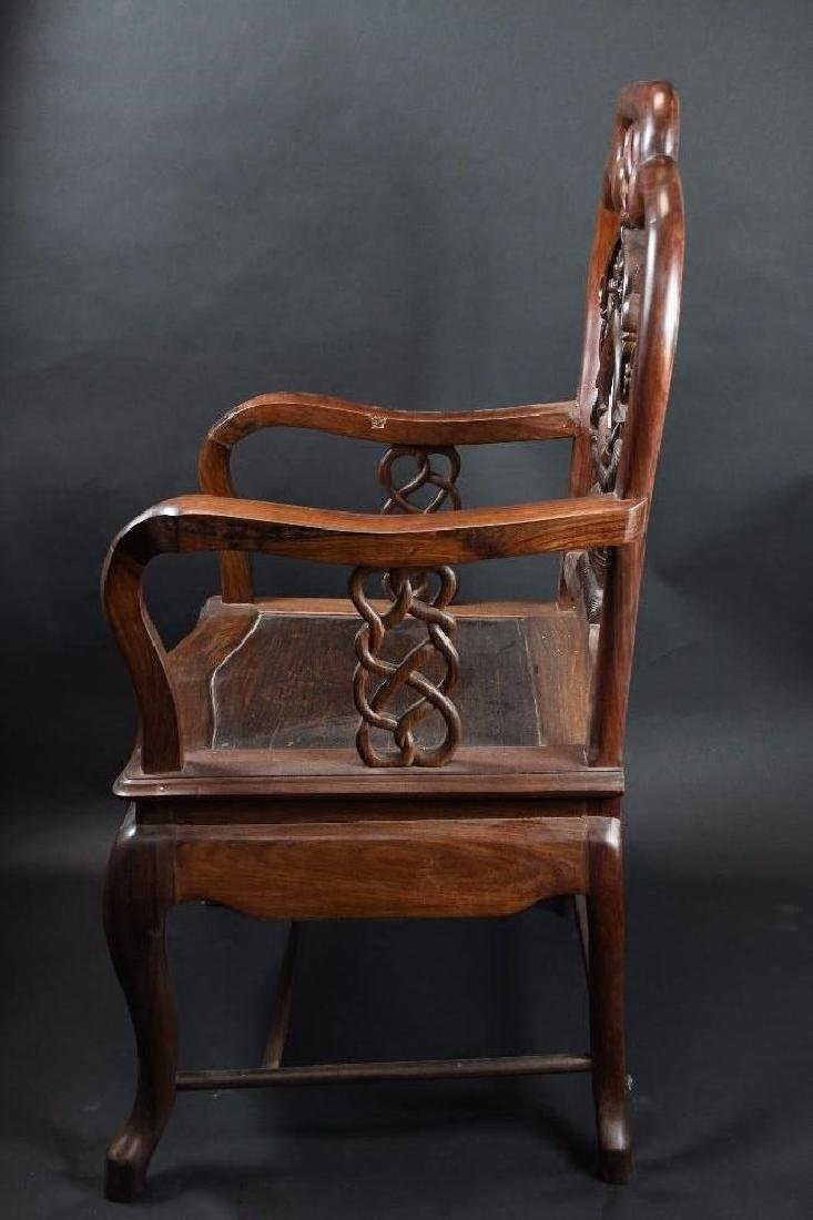 Two Chinese Hardwood Chairs - 9