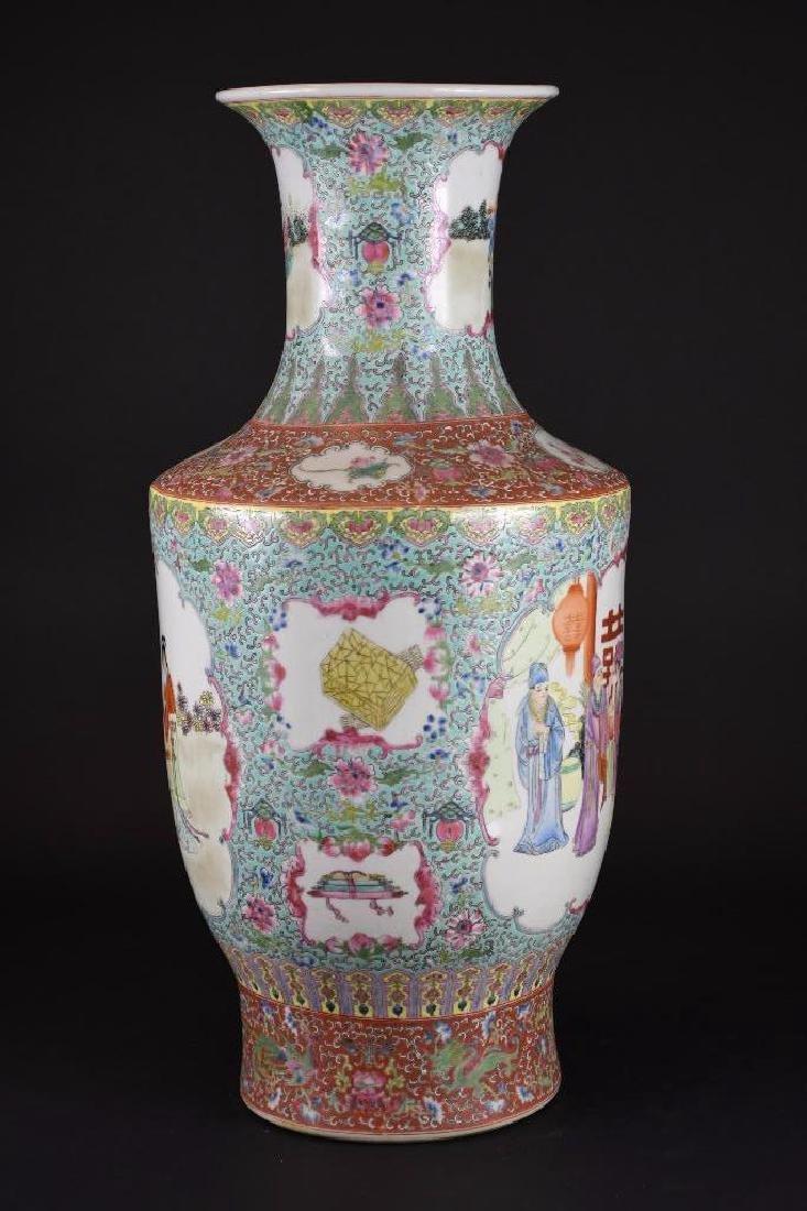 Chinese Ducai Porcelain Vase - 2