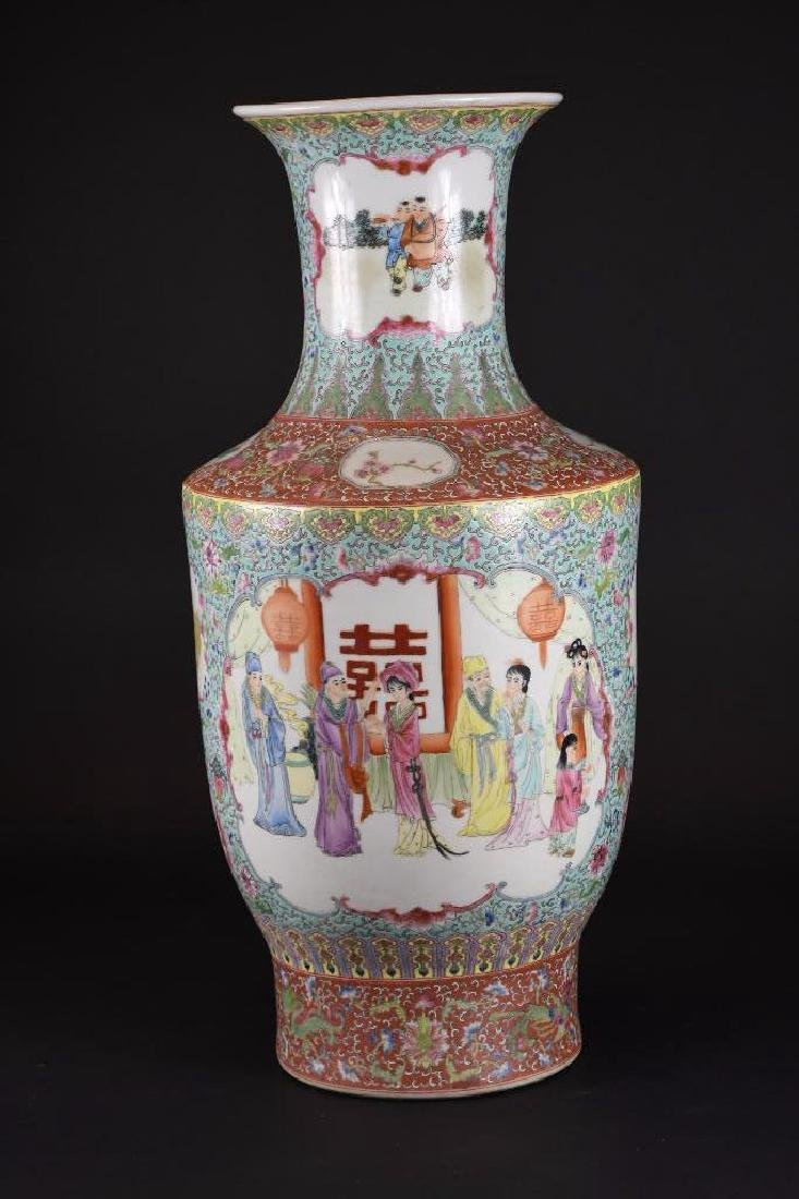 Chinese Ducai Porcelain Vase - 3