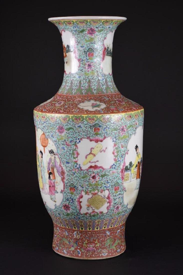 Chinese Ducai Porcelain Vase - 4