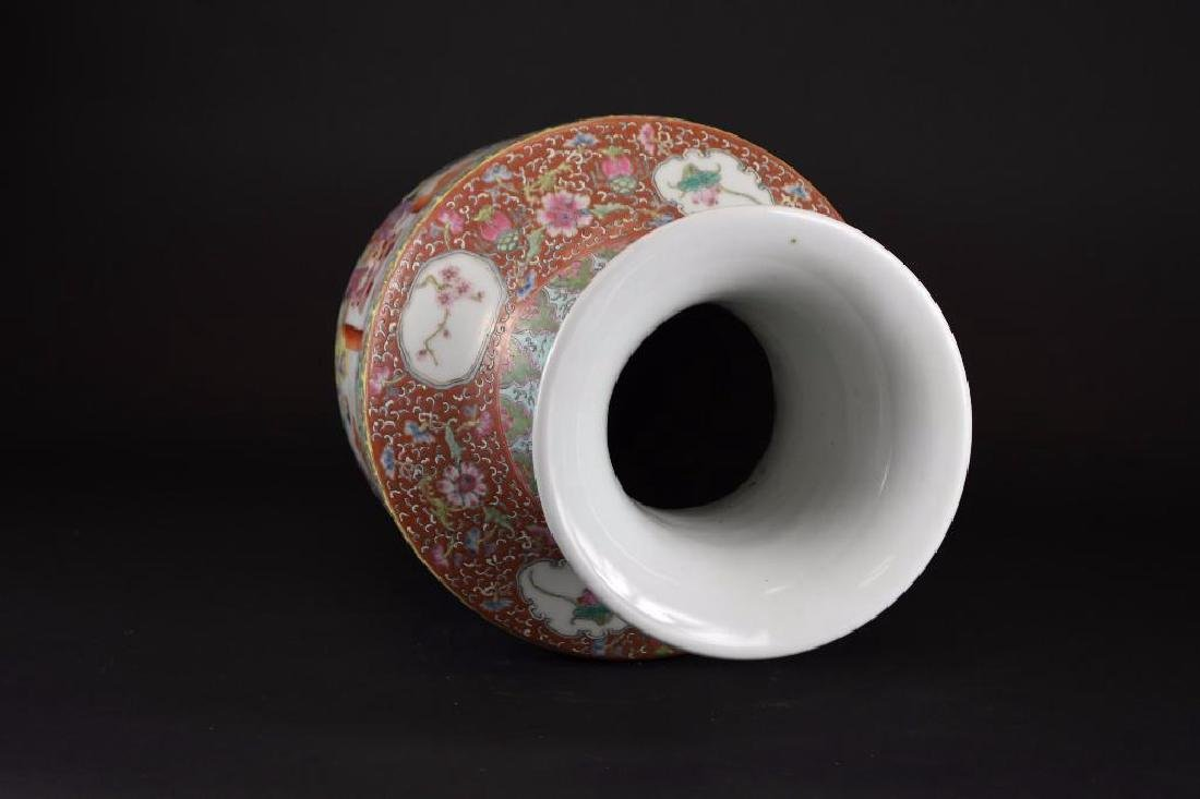 Chinese Ducai Porcelain Vase - 5