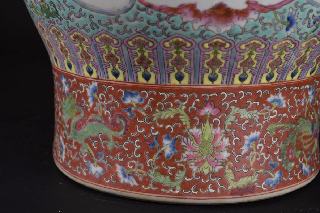 Chinese Ducai Porcelain Vase - 9