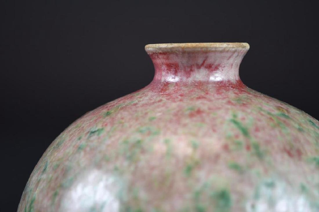 Pair of Chinese Peach Bloom Glaze Vases - 6