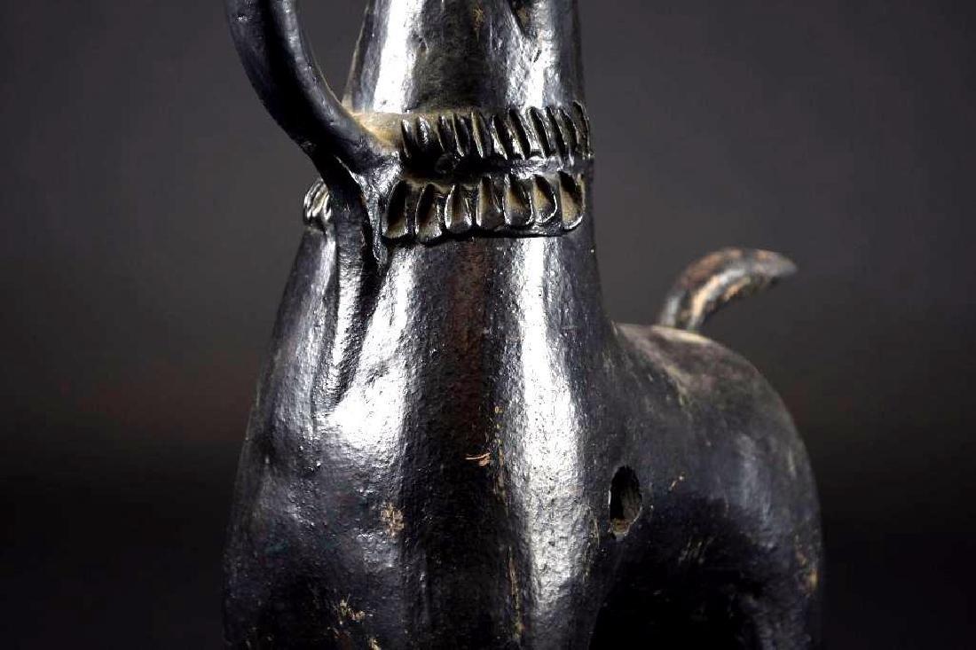 Pre Colombian Black Pottery Horse Form Vase - 6