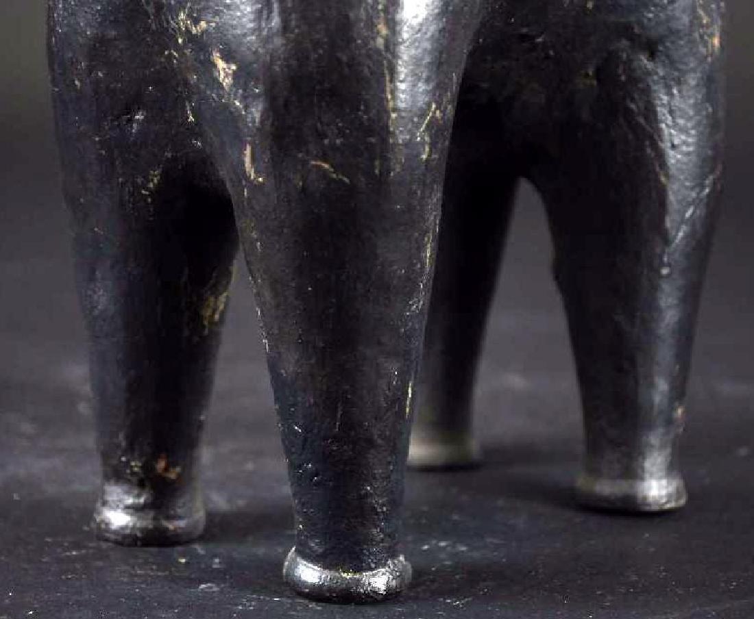 Pre Colombian Black Pottery Horse Form Vase - 7