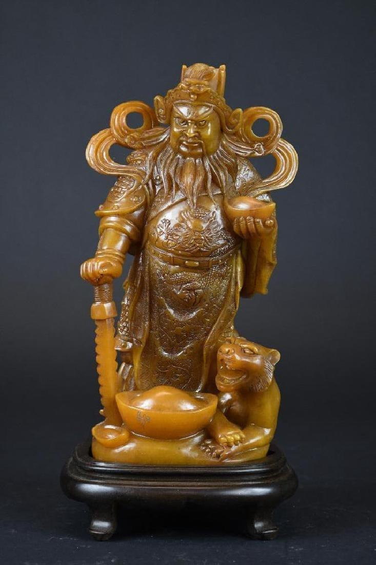 Chinese Soapstone Shoushan Stone Warrior