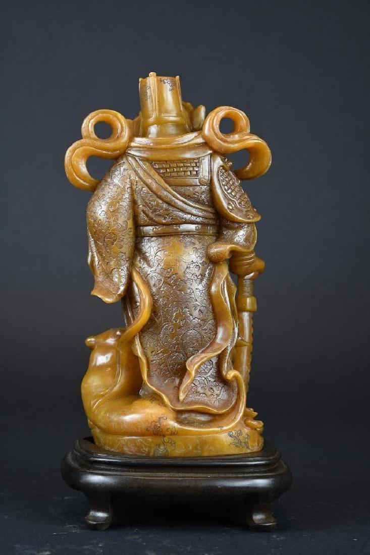 Chinese Soapstone Shoushan Stone Warrior - 3
