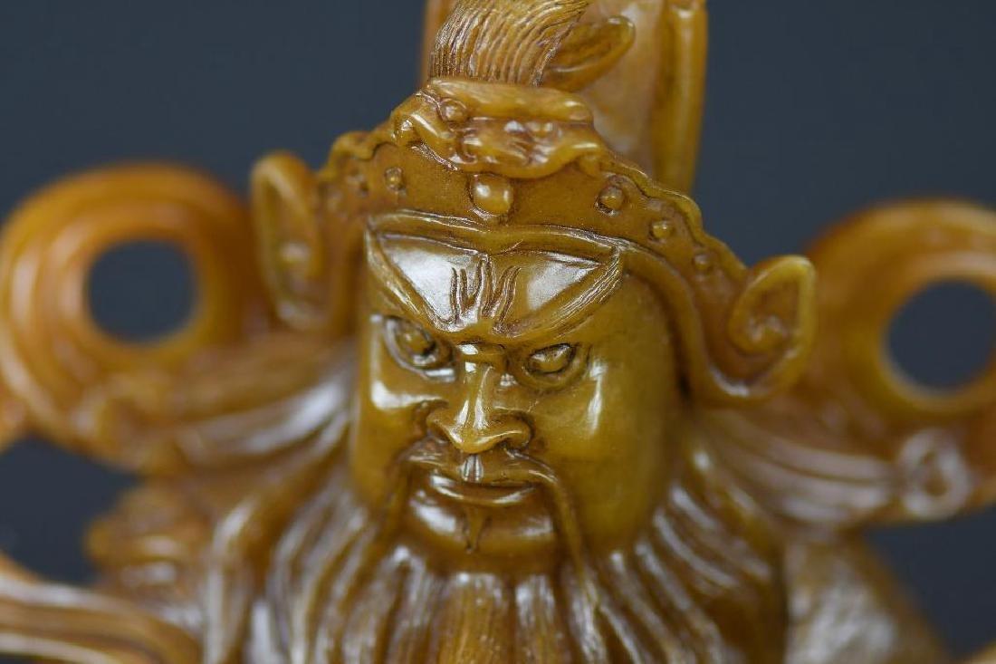 Chinese Soapstone Shoushan Stone Warrior - 7