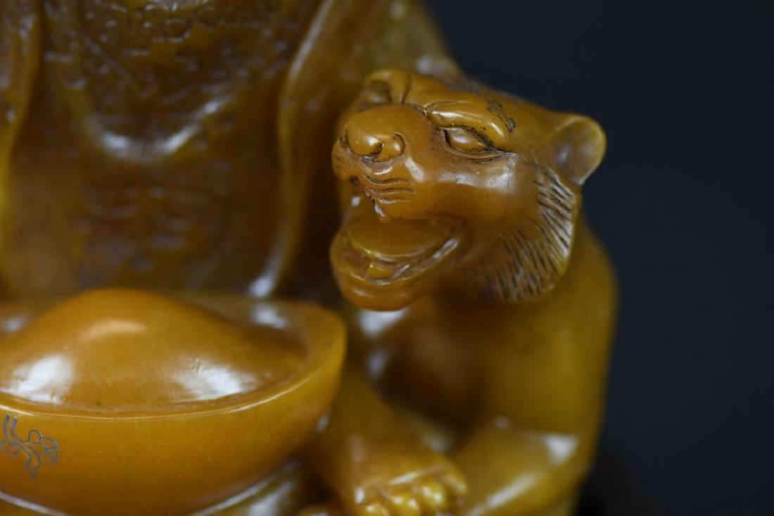 Chinese Soapstone Shoushan Stone Warrior - 9