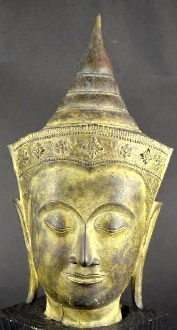 Antique Bronze Head of Buddha