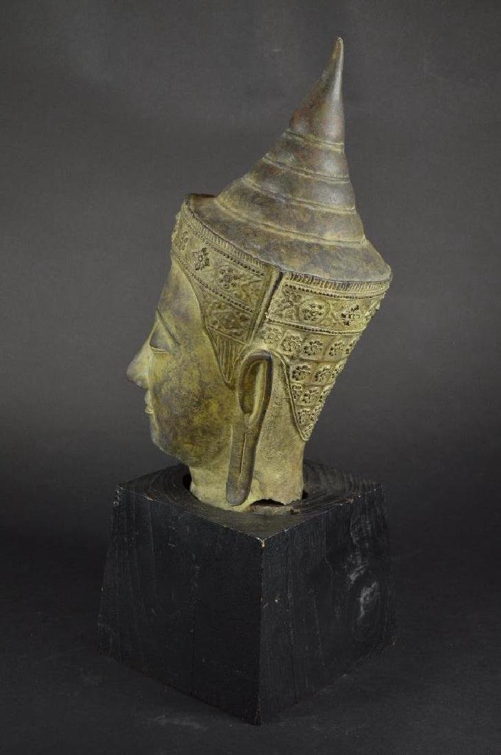 Antique Bronze Head of Buddha - 2
