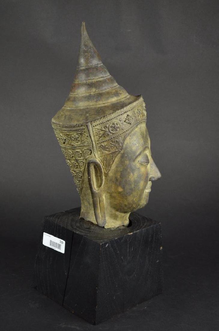 Antique Bronze Head of Buddha - 4
