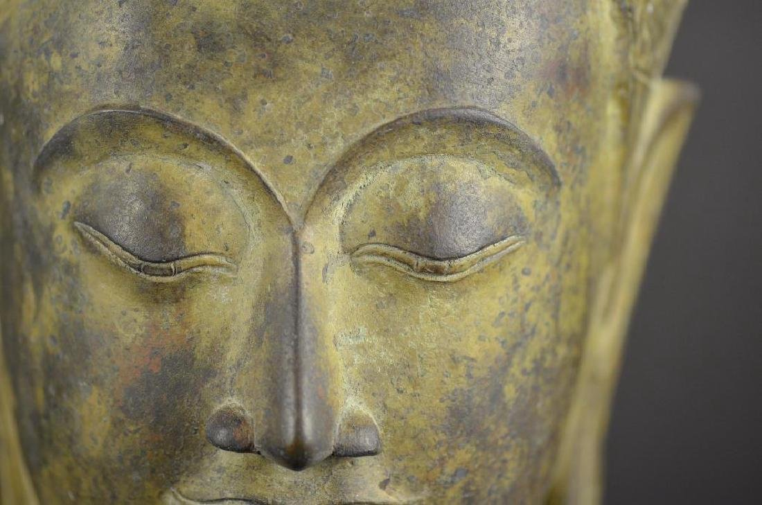 Antique Bronze Head of Buddha - 6