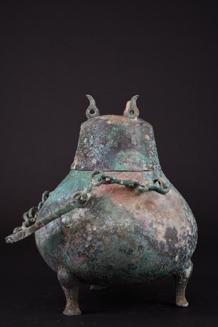 Chinese Bronze Tripod Vessel - 6