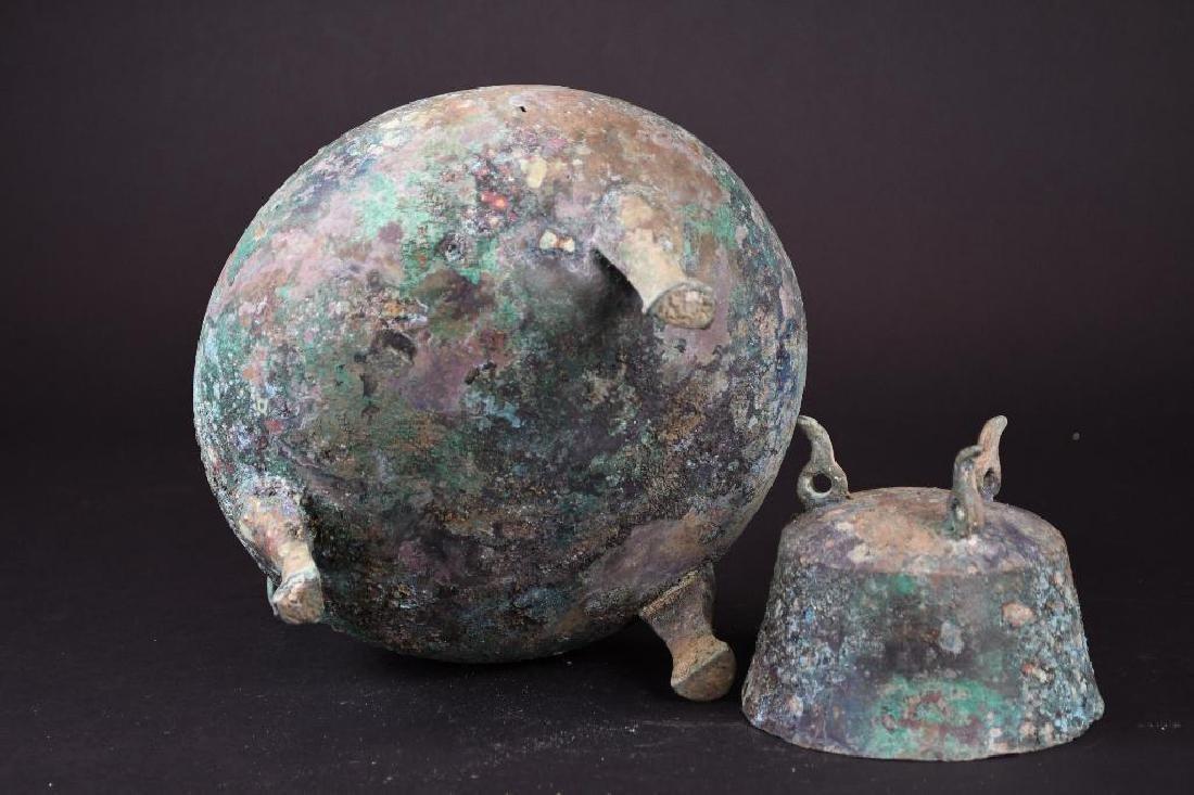 Chinese Bronze Tripod Vessel - 8