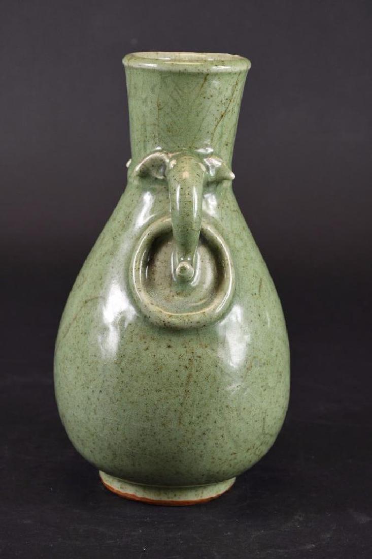 Chinese Celadon Crackle Glaze Vase - 4