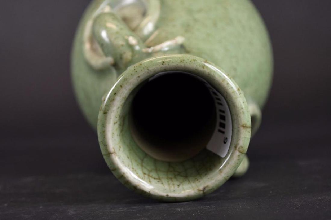 Chinese Celadon Crackle Glaze Vase - 5