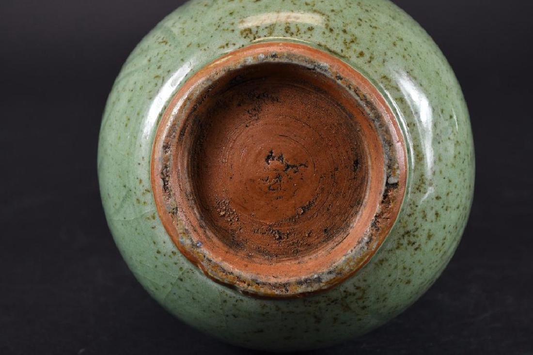 Chinese Celadon Crackle Glaze Vase - 6