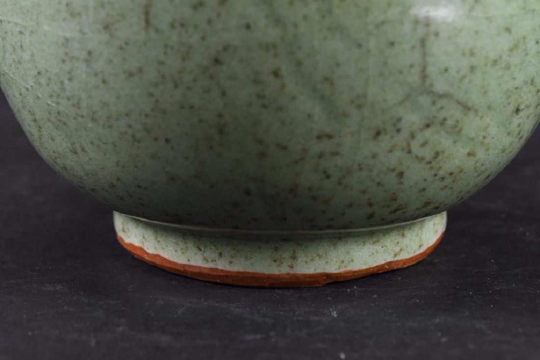 Chinese Celadon Crackle Glaze Vase - 9