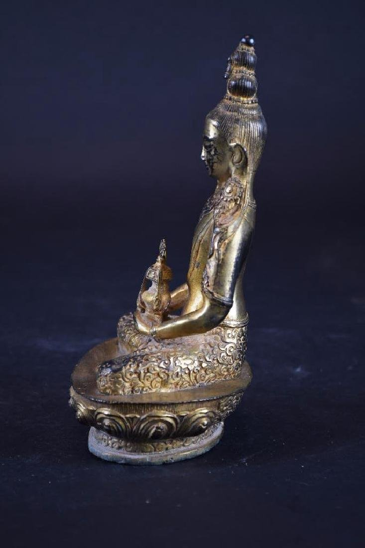 Chinese GiltBrozne Seated Buddha - 2