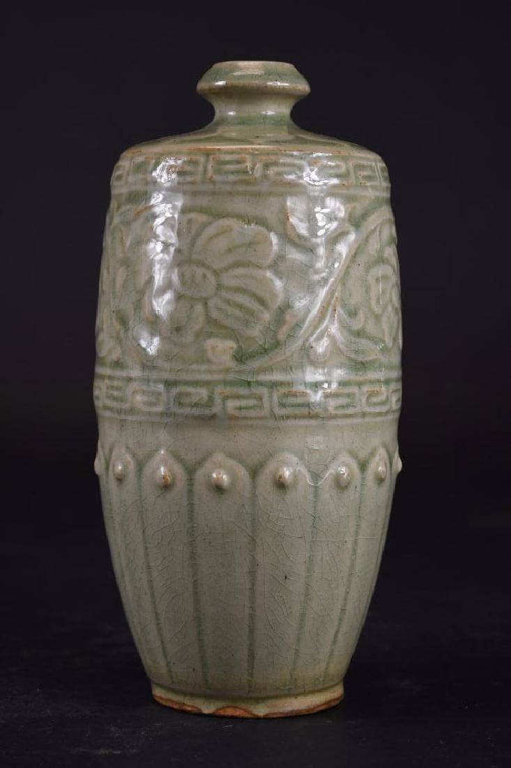 Chinese Celadon Glaze Porcelain Vase - 4