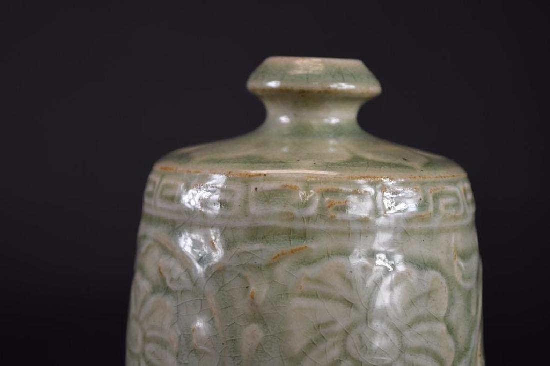 Chinese Celadon Glaze Porcelain Vase - 7