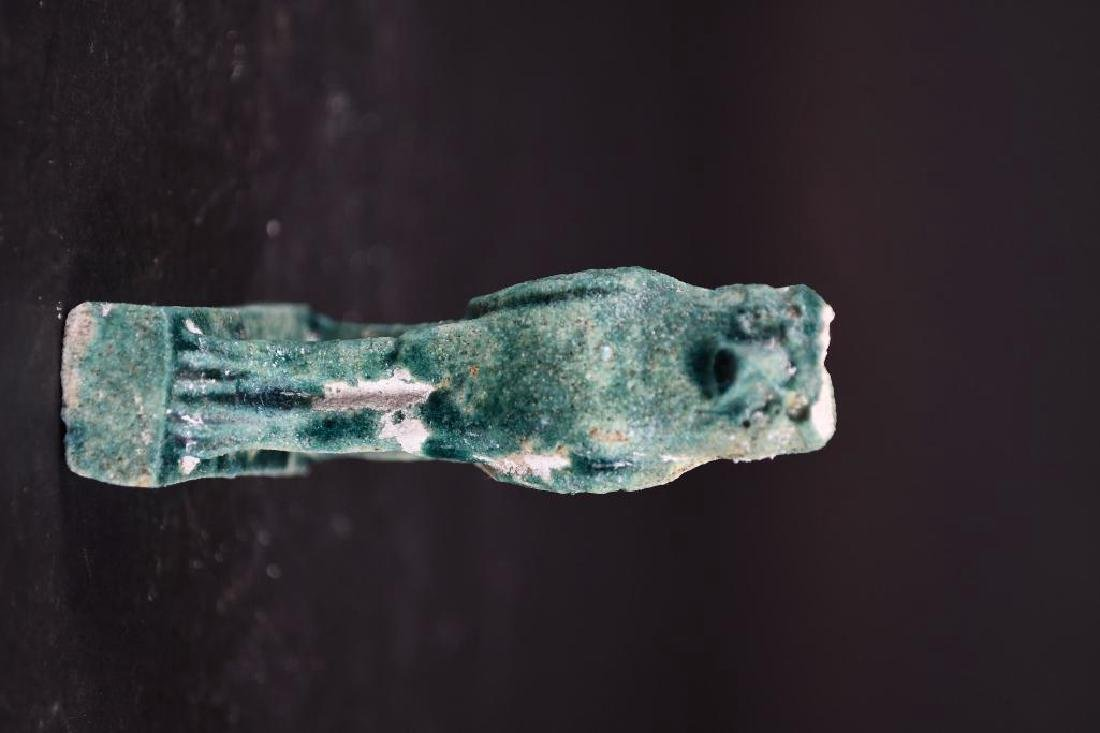 Small Ancient Egyptian Faience Statue - 5