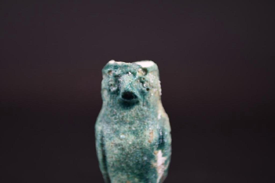 Small Ancient Egyptian Faience Statue - 6